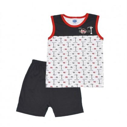 Cute Maree Junior Busy Road Baby Singlet Suit