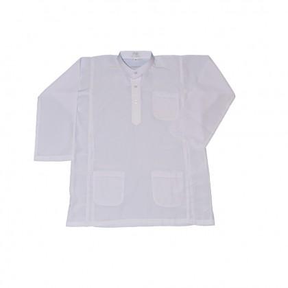 Cute Maree Academy Academy School Uniform Koshibo Baju Melayu Set - White