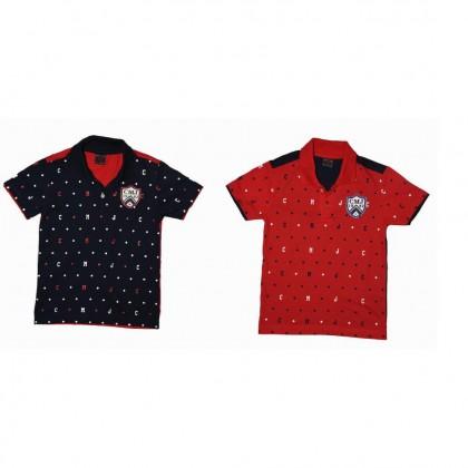 Cute Maree Junior CMJ 1982 Collar T-Shirt - Navy & Red