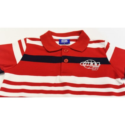Cute Maree Collar Baby to Toddler Boy T-Shirt Red 9583