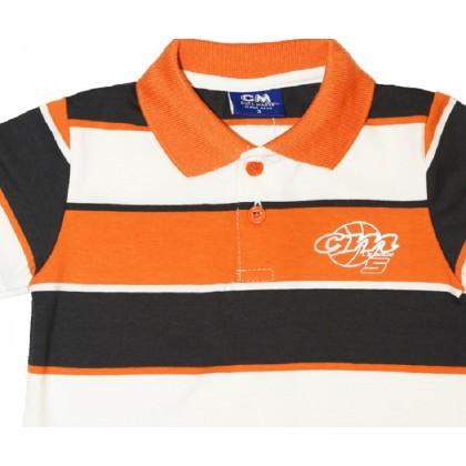 Cute Maree Collar Baby to Toddler Boy T-Shirt Orange 9583