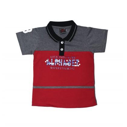 Cute Maree Alphabet Fun Boy Collar T Shirt